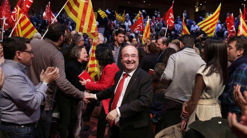 Iceta se ofreció como única alternativa al frente independentista y la derecha de Cs y PP
