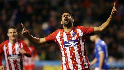 Diego Costa ya marca en su regreso y el Atlético se acerca a los cuartos de Copa