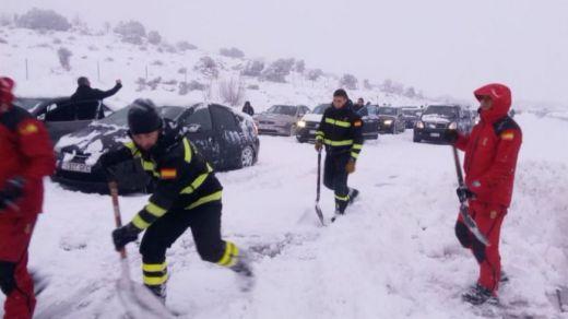 Caos en media España por el temporal de nieve