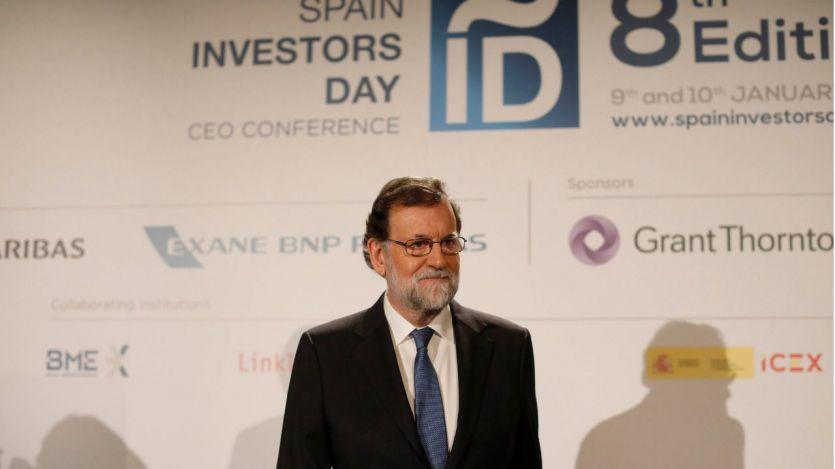 El presidente del Gobierno, Mariano Rajoy, durante el acto de inauguración del foro Spain Investors Day.