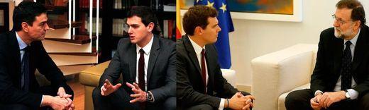> Rivera se postula ya para gobernar con gente del PP y del PSOE