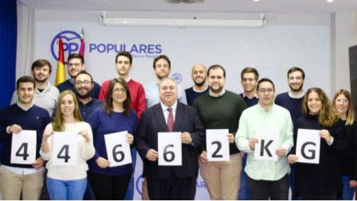 Nuevas Generaciones del PP recogió 45 toneladas de alimentos en la campaña 'Populares Solidarios'