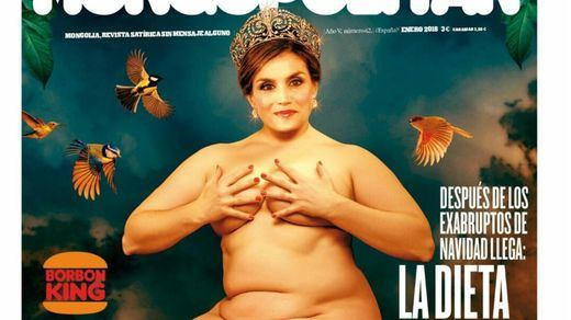 La revista 'Mongolia' dedica su primera portada del año a la reina Letizia, al estilo Botero