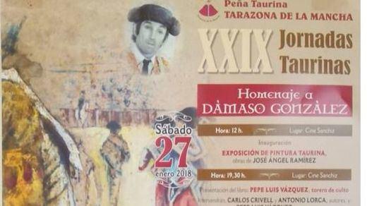 Dámaso González, protagonista de las Jornadas Taurinas de Tarazona de la Mancha