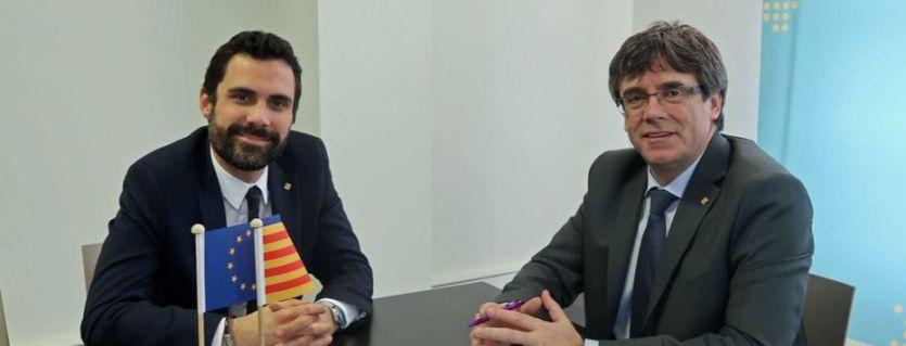 En manos de Torrent: Puigdemont le pide 'amparo' para poder ser investido president