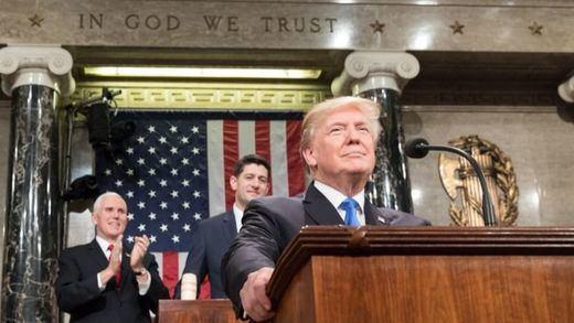 Trump, en su primer discurso del estado de la Unión: