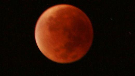 Así es la Superluna Azul de Sangre de este 31 de enero