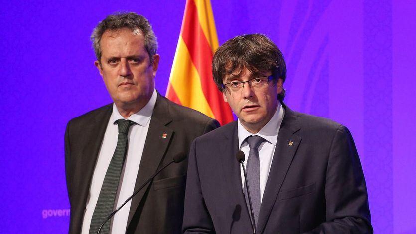 Joaquim Forn, a la izquierda de la imagen junto a Puigdemont.