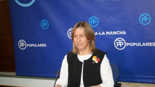 Guarinos durante la rueda de prensa en las Cortes de Castilla-La Mancha