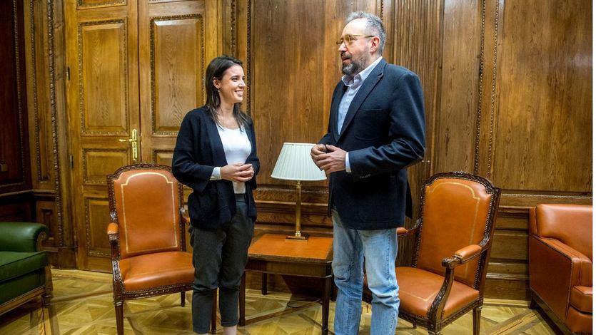 Los portavoces parlamentarios Irene Montero (Podemos) y Juan Carlos Girauta (Ciudadanos)