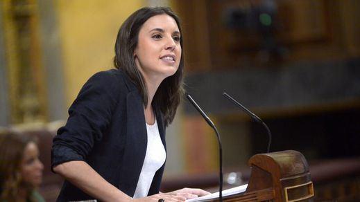 Irene Montero: portavoz en Twitter, 'portavoza' en el Congreso