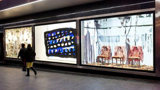El Corte Inglés celebra ARCO con '¿Pintura, painting?' en los escaparates de Preciados