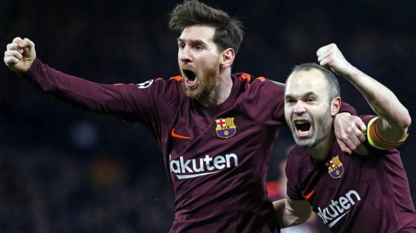 Messi e Iniesta rescataron a un flojo Barça en Londres (1-1)