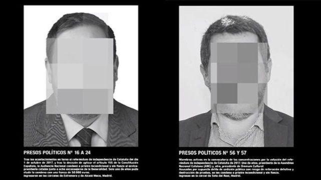 Detalle de la obra de Santiago Serra sobre presos políticos que fue retirada de ARCO