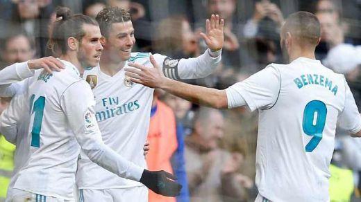 La BBC vuelve a respirar y Ronaldo se convierte en generoso para relanzar a Benzema (4-0)