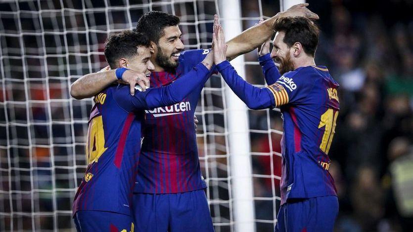 Goleada del Barça al Girona (6-1): hat-trick de Suárez, doblete de Messi y estreno de Countinho
