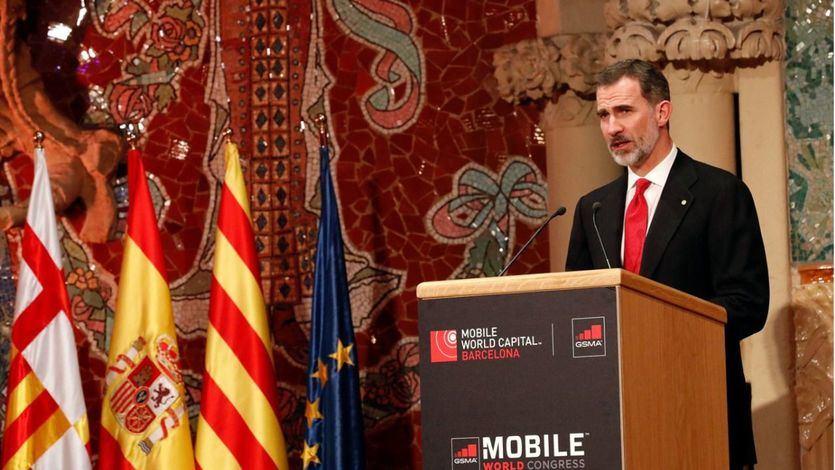Rey Felipe VI en la cena del Mobile World Congress 2018