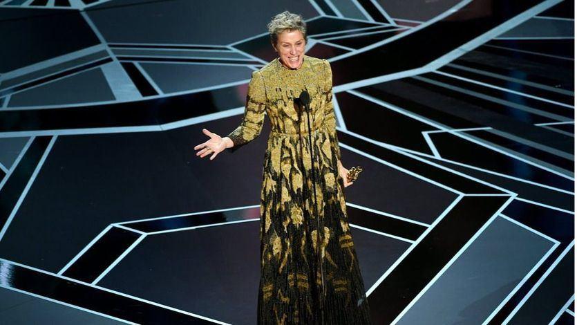 Frances McDormand en la Gala de los Oscars