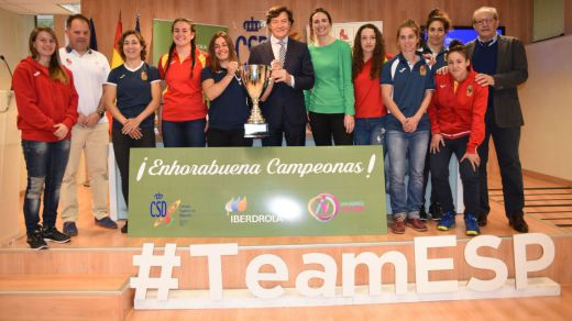 Homenaje a las 'Leonas', nuevas Campeonas de Europa de rugby