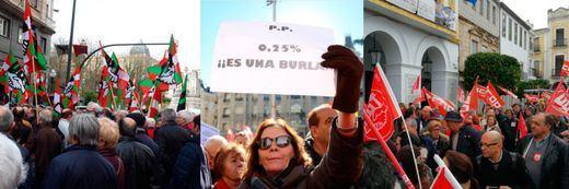 17-M: la marea pensionista vuelve a las calles al grito de 'no al 0,25%'