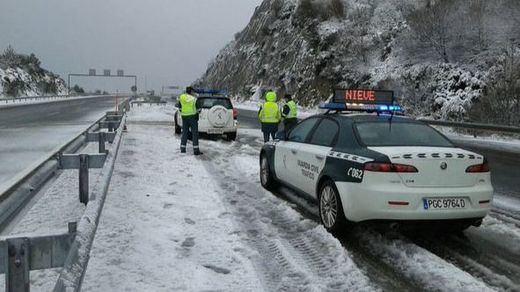 Restricciones al tráfico en la A-67 para evitar que se quede bloqueada por las nevadas