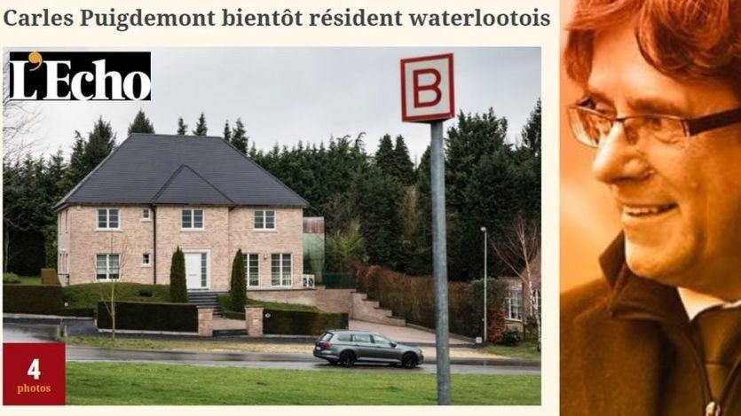 Puigdemont y su casa en Waterloo