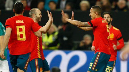 Serio partido de España para avisar a Alemania de cara al Mundial (1-1)