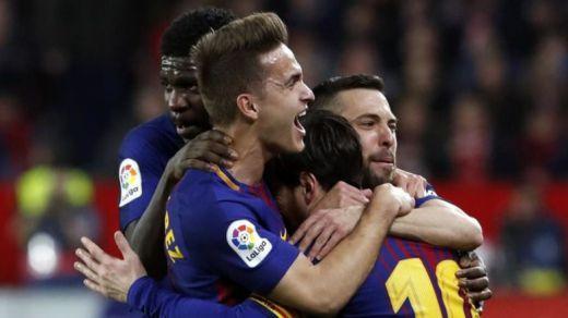 El mesías culé, Messi, resucitó in extremis al Barça en Sevilla (2-2)