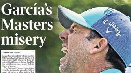 Sergio García se despide del Masters de Augusta tras irse 5 veces al agua en un hoyo