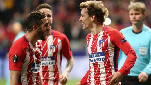 El Atlético ya huele a semifinales en la Europa League tras cenarse al Sporting (2-0)