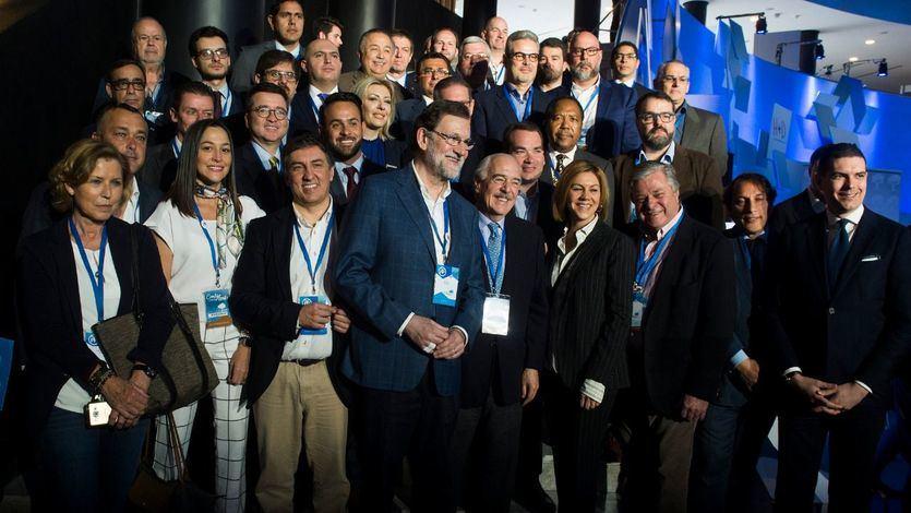 Mariano Rajoy en el acto de Retos y desafios internacionales en la Convención Nacional de Sevilla 2018