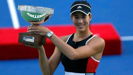 Nuestras tenistas también ganan: Muguruza conquista el torneo de Monterrey