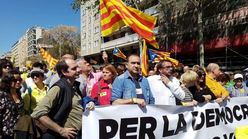 UGT y CCOO de Cataluña se desligan de la dirección nacional y se manifestaron por los presos del independentismo