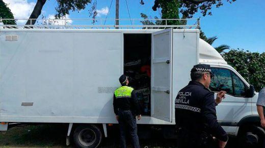 Intervenido un camión en la Feria de Abril que no había pasado controles sanitarios