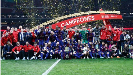 El Barça arrolla al Sevilla y vuelve a alzar la Copa del Rey (0-5)