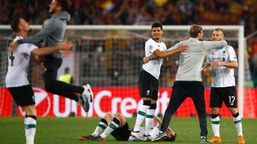 El Liverpool sella con esfuerzo en Roma su pase a la final de Champions (4-2)
