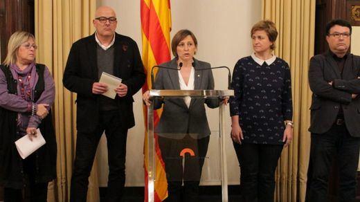 Los miembros de la Mesa del Parlament imputados por el juez Llarena alegan