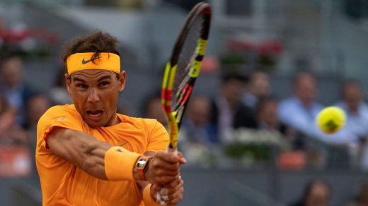 Un Nadal de recórd llega a cuartos de final en el Open de Madrid