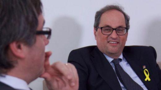 Puigdemont revela que su títere Torra convocará elecciones en 5 meses