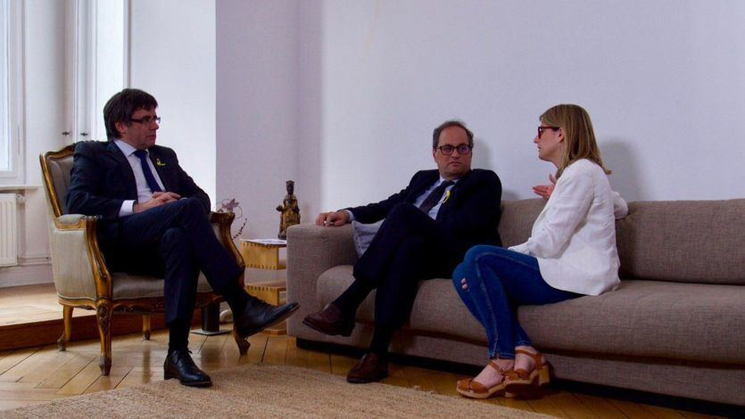 Torra se estrena en el cargo con una reunión con el 'president legítimo' en Berlín