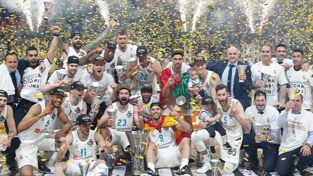 El Real Madrid de baloncesto logra su décima Copa de Europa tras superar todas las adversidades