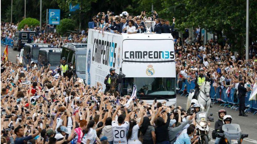 La capital se vistió de blanco: así celebró el Real Madrid la decimotercera Copa de Europa