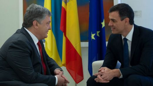 Sánchez 'abre' su agenda presidencial con la visita de su homólogo ucraniano