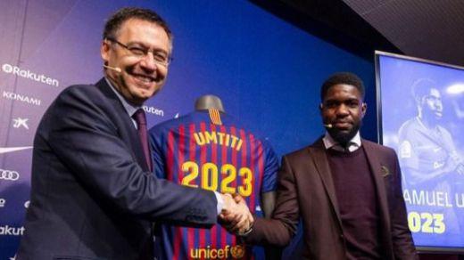 Umtiti pone fin al culebrón renovando con el Barça: ya cuesta 500 millones