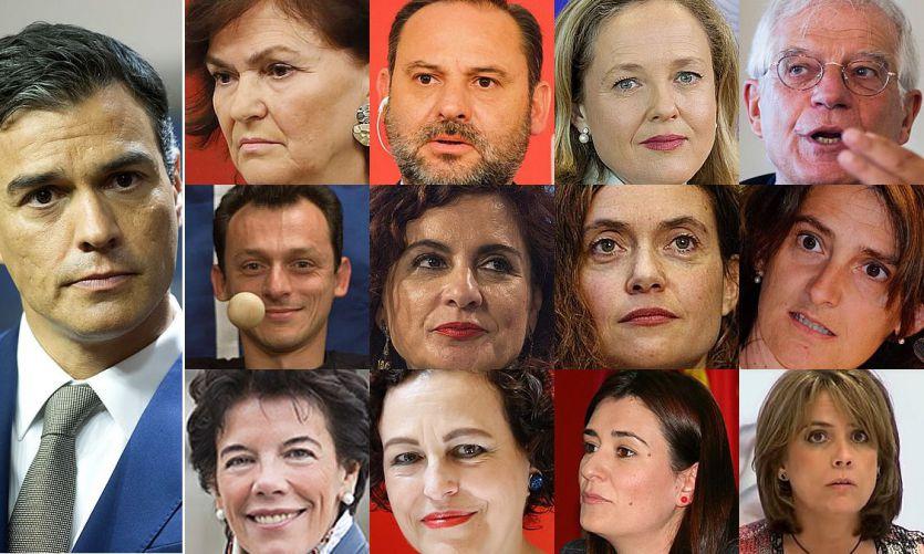 DIRECTO: Así está la composición del Gobierno de Sánchez en estos momentos