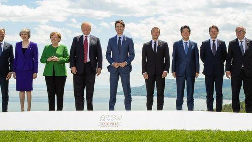 Chispas y tensión en la cumbre del G-7 con Trump, que exigió el regreso de la expulsada Rusia
