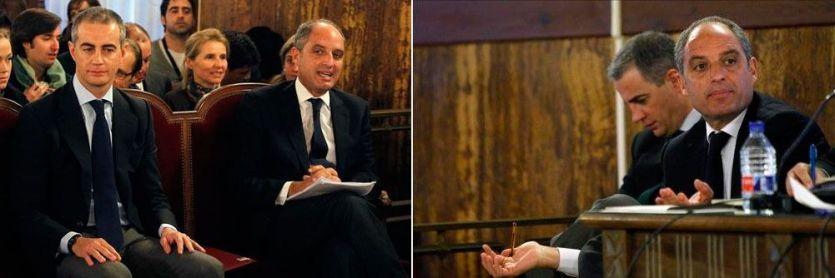 Ricardo Costa y Francisco Camps en el banquillo