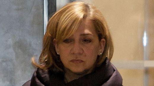Rebajada a la mitad la multa a la infanta Cristina, responsable y partícipe a título lucrativo