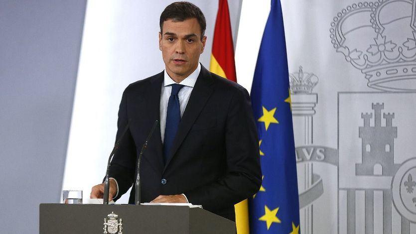 El presidente del Gobierno, Pedro Sánchez, comparece en La Moncloa para dar a conocer la composición de su Gabinete.