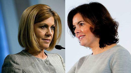 Recuento de apoyos de los candidatos del PP: Cospedal y Santamaría empatan en ex ministros